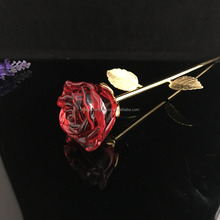 cheape nice valentine's day holiday crystal rose flower gifts