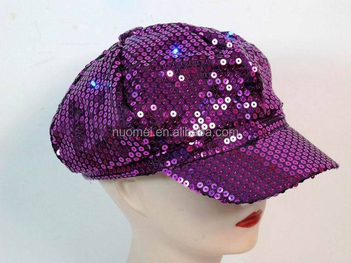 G0291 factory supply custom LED flashing lightup sequin fedora hats