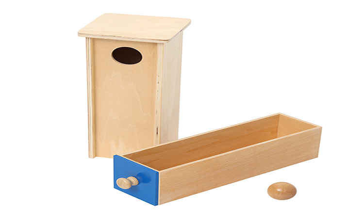 New popular montessori materials educational toys Object Permanence Box w/ Drawer