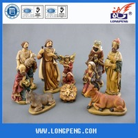10-Piece Traditional Holy Family and Three Kings Christmas Nativity Sets