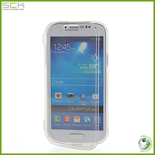 gel tpu flip case for samsung galaxy s4 mini,for galaxy s4 gel case