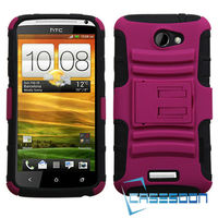 HARD CASE COVER AND HOLSTER COMBO CASE For HTC One X