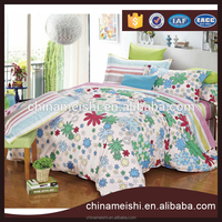 Home textiles 100% Cotton Flower Printed Bedding Set comfortable qulit cover,flat sheet,pillow case