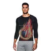 Men Compression long Sleeve Sports Fast Drying Fitness GYM Tight Tops T Shirts