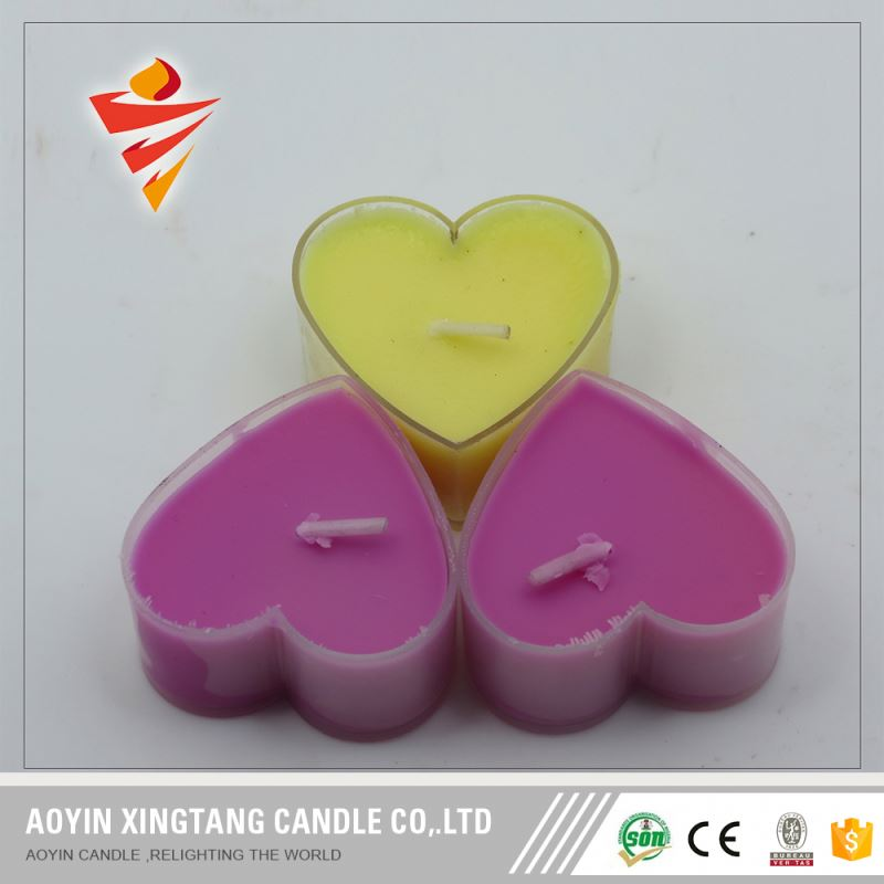 China Factory In Jar Heart Shaped Tealight Candles