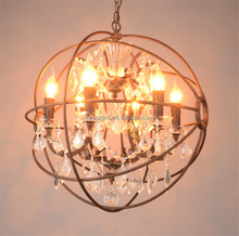 Retro round ball shape crystal chandelier for living room from china wholesale