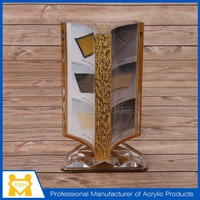 Acrylic Tabletop Menu Display Stand,rotating picture frame,acrylic frame