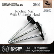 dome head aluminum twist umbrella roofing nail