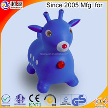 hopping deer Christmas toys gift ride cartoon deer inflatable jumping deer with ECO-friendly PVC jumping animal