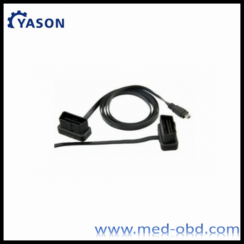 Ultrathin OBD2 Male to MINI USB Cable