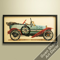 Stock Painting Antique Classic Car Art