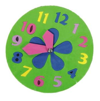 educational toy clock foam jigsaw puzzle