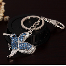 2016 best selling silver bird or other shapes metal keychains