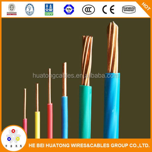 300/500V copper conductor electrical cable types 1.5mm cable solid wire