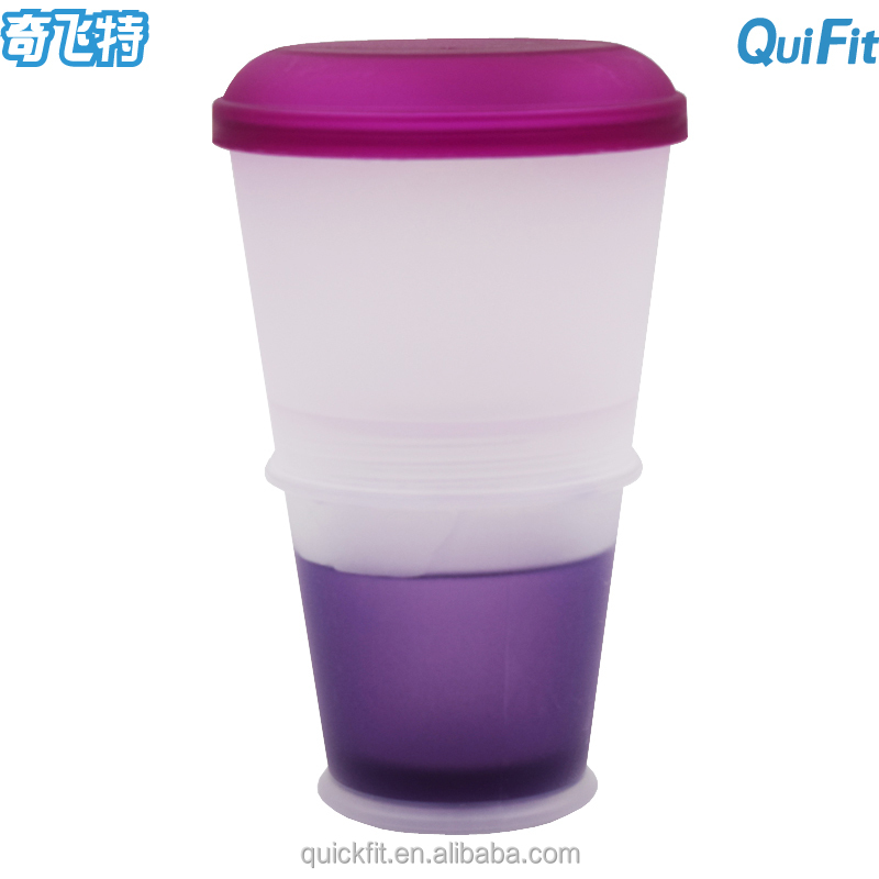 BPA free Cereal On The Go Food Cup Bottle Folded S Gel-Insulated Freeze Gel