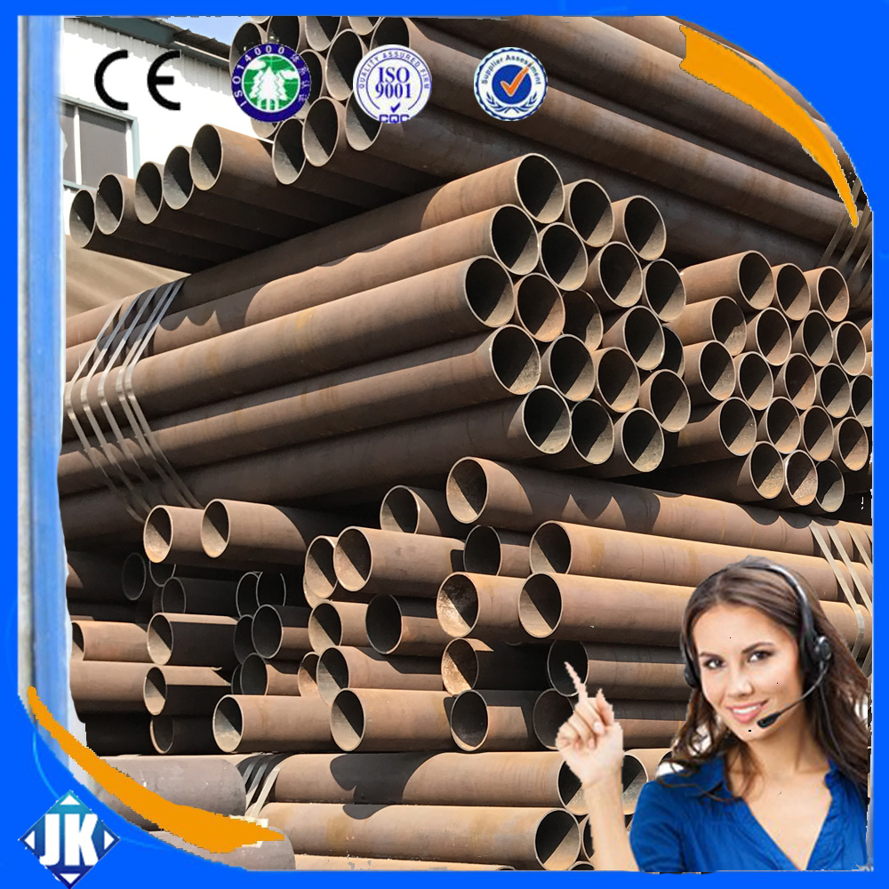 high quality API 5L B steel round seamless ms pipe rolling mill