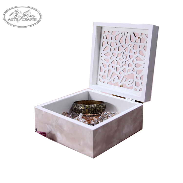 Custom logo printed necklace display box wooden jewelry boxes packaging