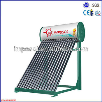 Imposol EN12975 low pressure Solar Water Heater and Eco Solar Energy products