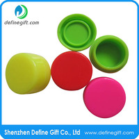 food grade non stick storage 7ml 38mm mix color silicone jars wax dab container