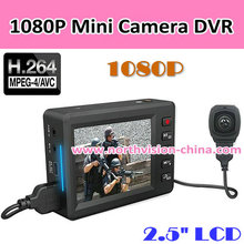 "High Definition Video Camera DVR, Split Type Mini Full HD DVR with 2.5""LCD, 1080P,H.264, Support 64GB TF card."