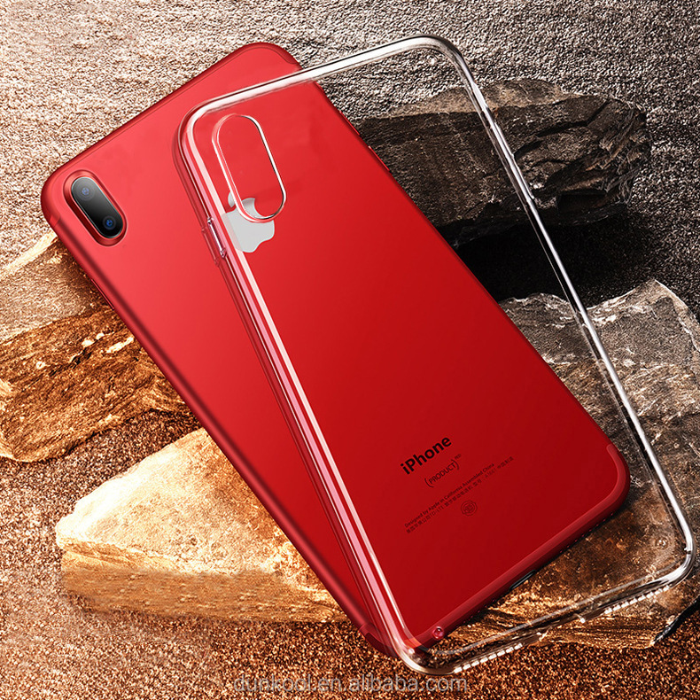China factory OEM LOGO printing custom design cheap soft clear transparent TPU mobile phone case for iphoneX 8 7
