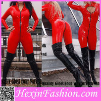 Cheap Hot Sale Long Sleeved Red Women Tight Bodysuit