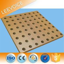 China Hot Sale Soundproof Insulation Decorative Wooden Perforated Acoustic Celotex Board