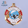 customized made zinc alloy 999 gold plating 3d effect lapel pins badge