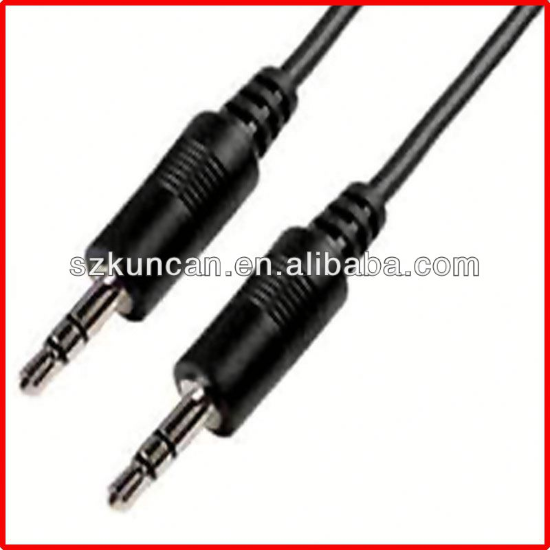 4 poles 3.5mm jack to rca cable