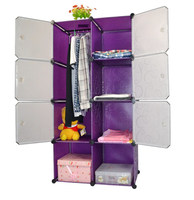 Luxurious Plastic bedroom wardrobe YK-1018