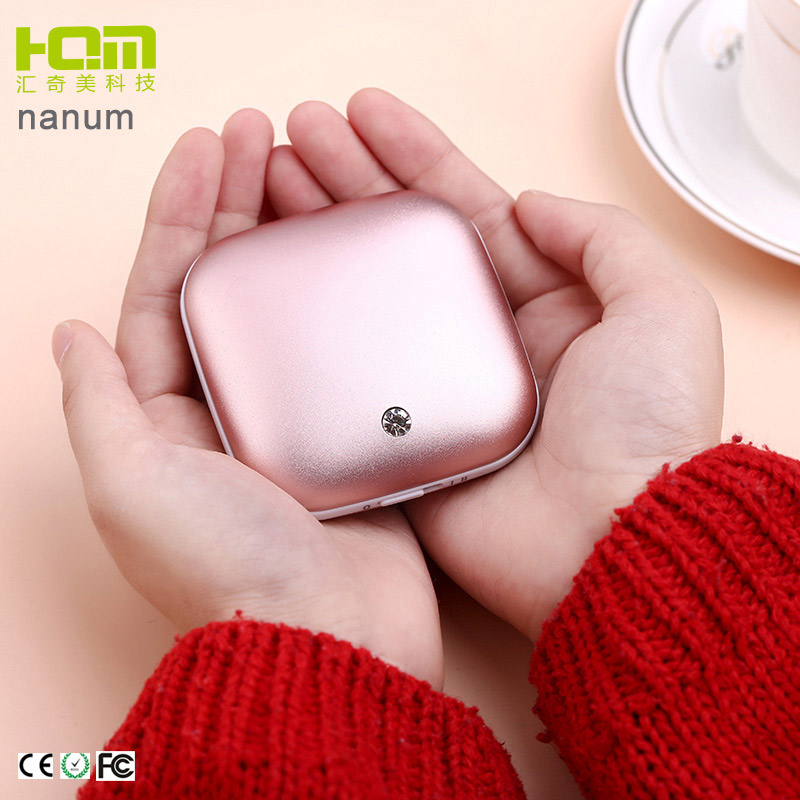 Battery Powered Portable Elec. Hand Warmer usb Hand <strong>Heater</strong> with Power Bank