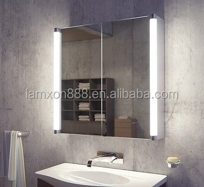 Multifunction Medicine Cabinet with Illuminated side light for Luxury bathroom design