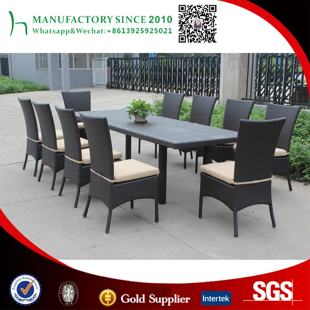 Square shape long banquet glass top dining table home garden outdoor