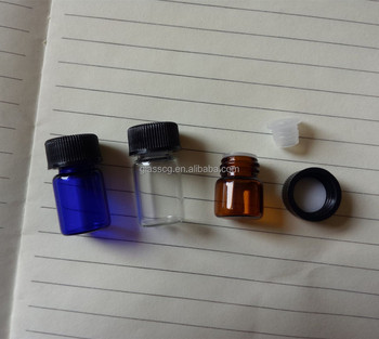 Free samples 1ml 2ml small size empty glass bottle,mini glass tube,essential oil bottle with screw cap