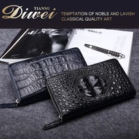 Promotional High-end branded genuine leather wallet , alligator wallet for men