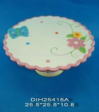 Ceramic cake holder in flowers design