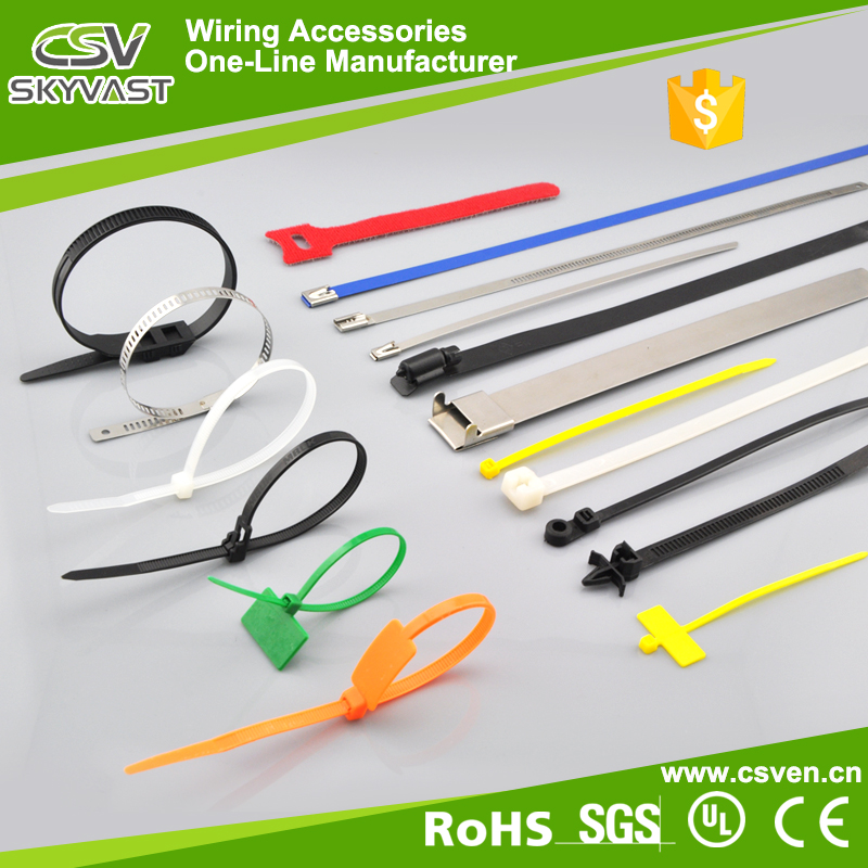 Disposable Plastic Zip Binding silicone rubber cable ties