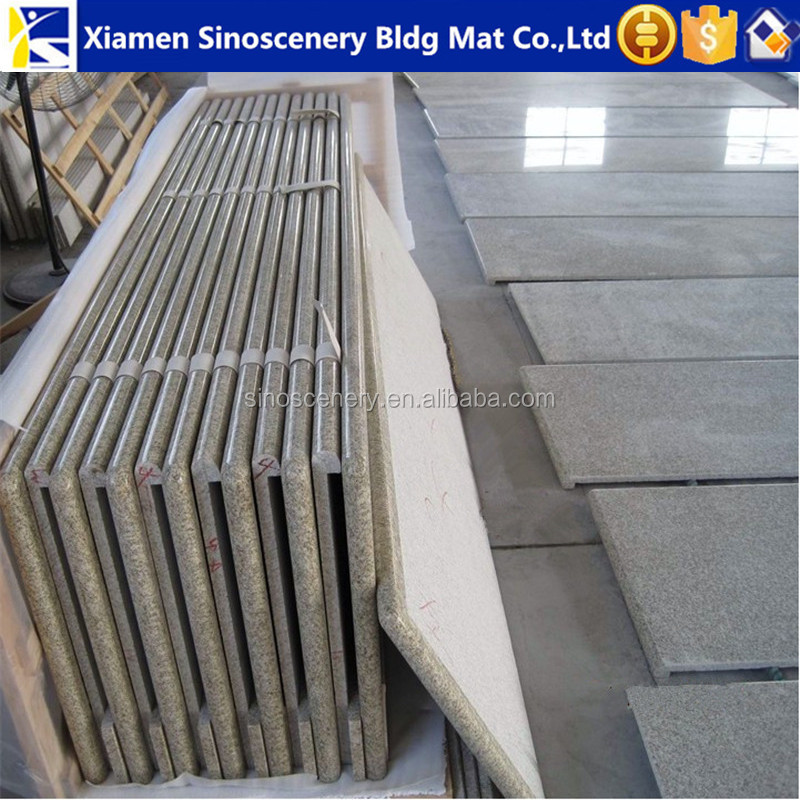 Shandong rusty yellow granite bar table top with laminated full bullnose edge profile