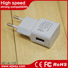 high power with UK/USA/AU/EU power cable oem logo 5v 8a 5 port usb charger