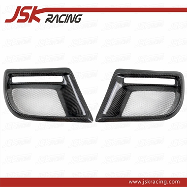 2006-2013 DUELL AG STYLE CARBON FIBER FOG LIGHT COVER FOR BMW MINI COOPER S R56 R57