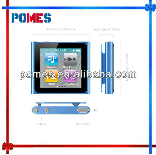 Hot sale 1.8inch TFT touch screen 6th generation mp4 player with card slot