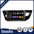 Cheap10.2 Inch High quality double din Quad core car gps dvd player for Toyota corolla 2014