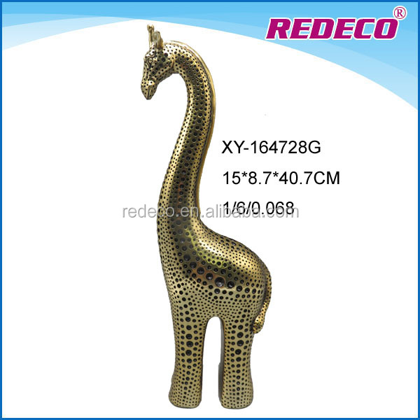 Resin gold plated elephant ornament for table decoration
