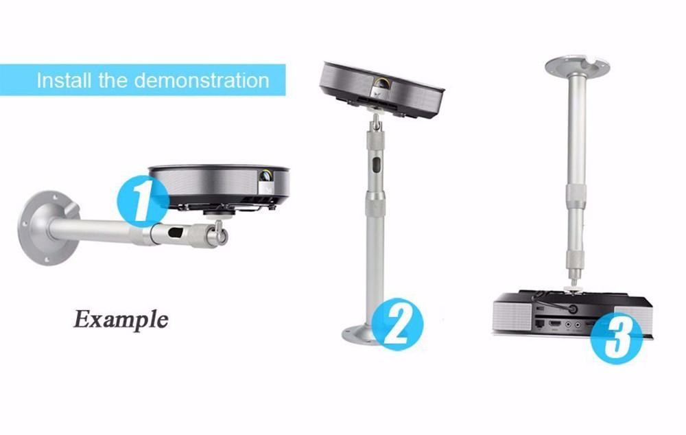 Salange Adjustable 360 Degree Ceiling Mount Bracket with 10KG Loading Ability for XGIMI JmGO Sony Projector Floor Stand Bracket