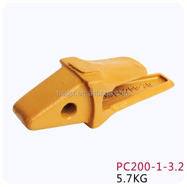 Excavator buckets teeth and adapter pc200 for sale