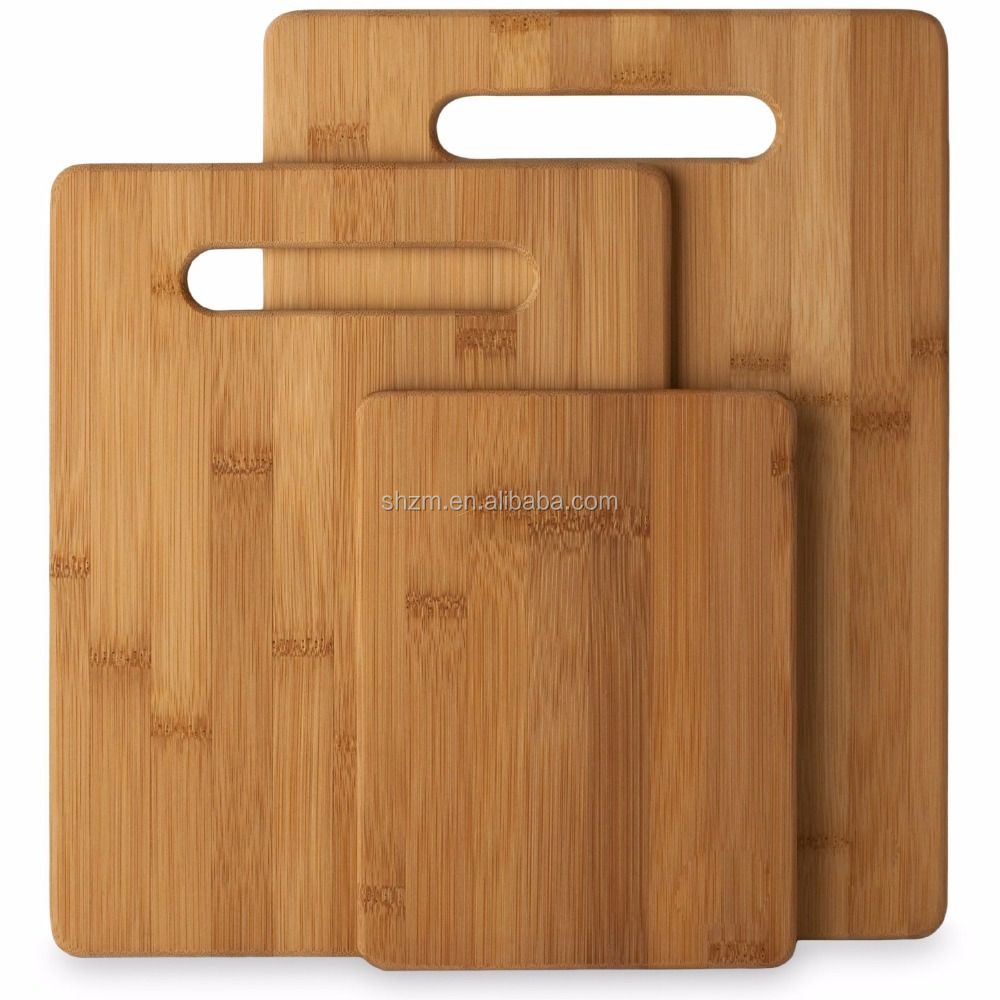 3 Piece Bamboo Cutting Board Set Perfect For Meat & Veggie Prep, Serve Bread, Crackers & Cheese