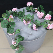 High quality export plastic artificial begonia flowers vine silk begonia garland