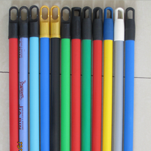 High Quality PVC Cover Mop Handle Broom Stick Hook PVC Coated wood Handle