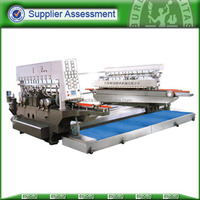 Double station glass bevel edge grinding machine