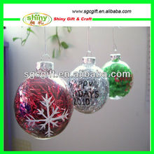 2013 Stylish Plastic Ball For christmas decoration